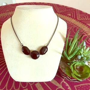 Kenneth Cole Black Bead Necklace